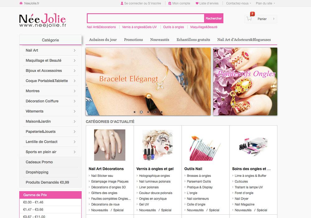 Découverte de l'e-shop Née Jolie